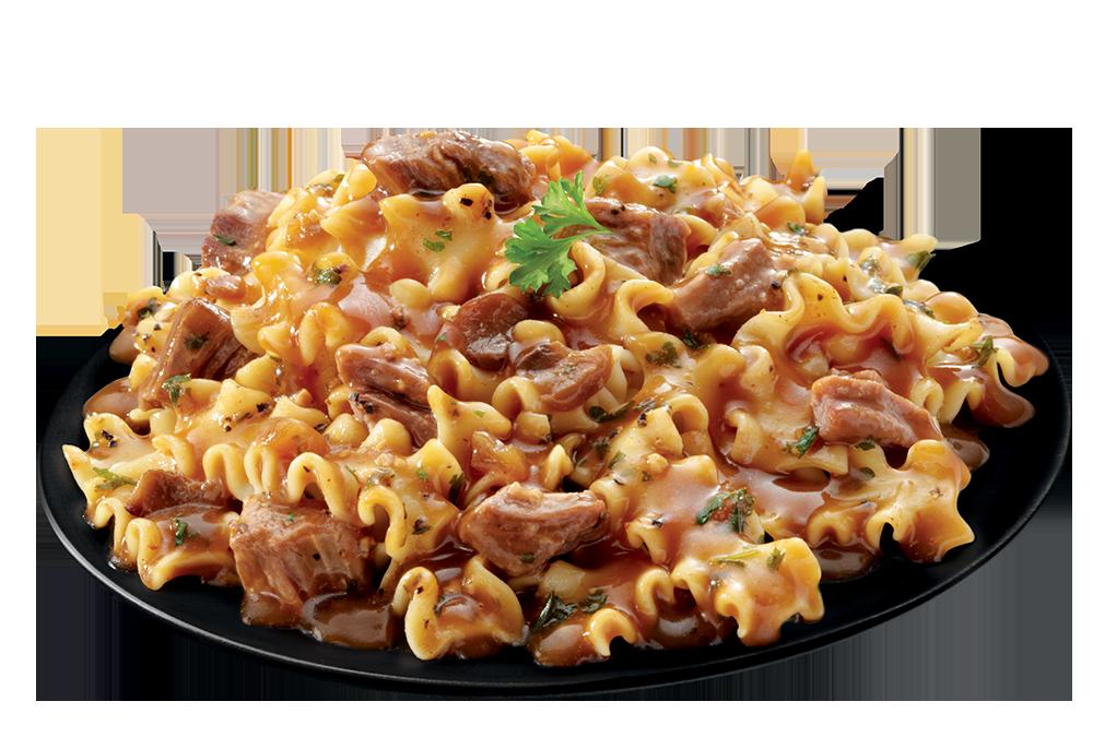 Beef Steak & Pasta plate