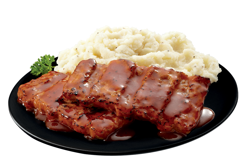 Boneless Pork Rib Shaped Patty plate