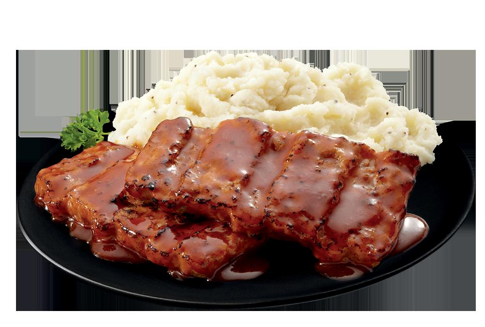 Boneless Pork Rib Shaped Patty plate