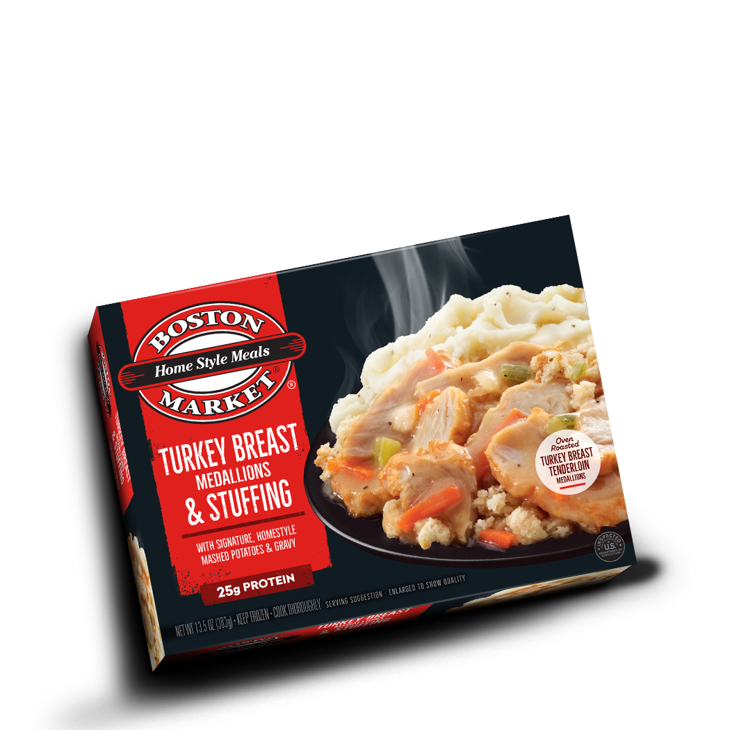 Turkey Breast Medallions & Stuffing Box