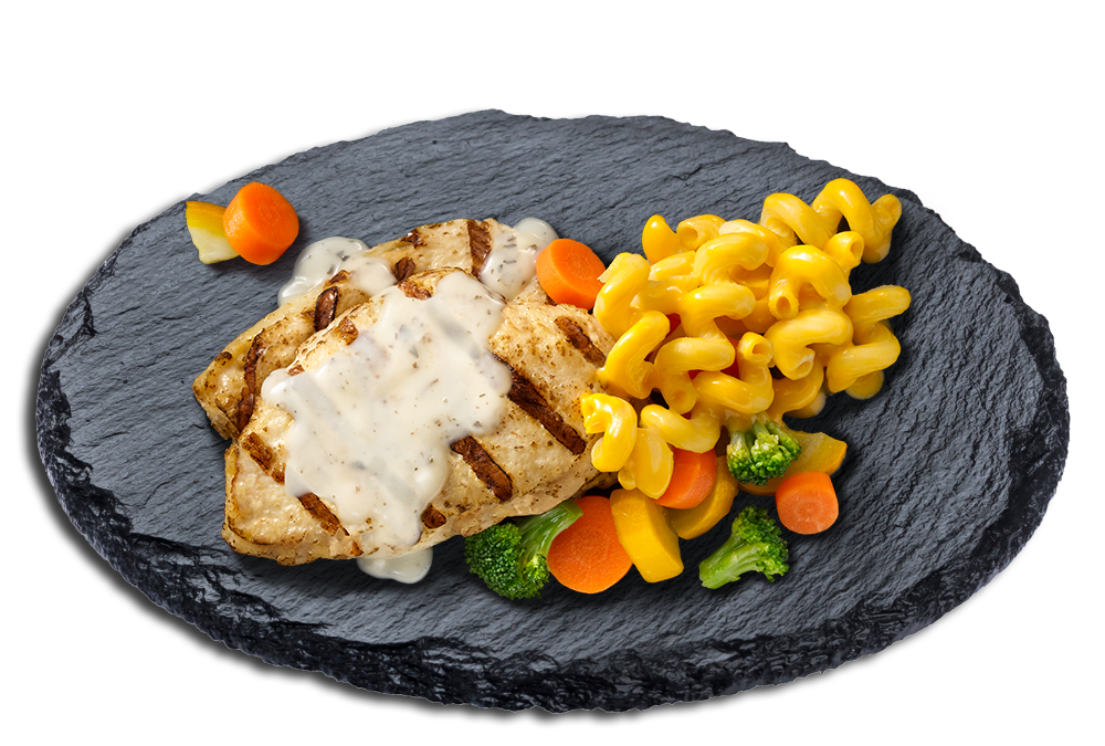Herb-Seasoned Grilled Chicken plate