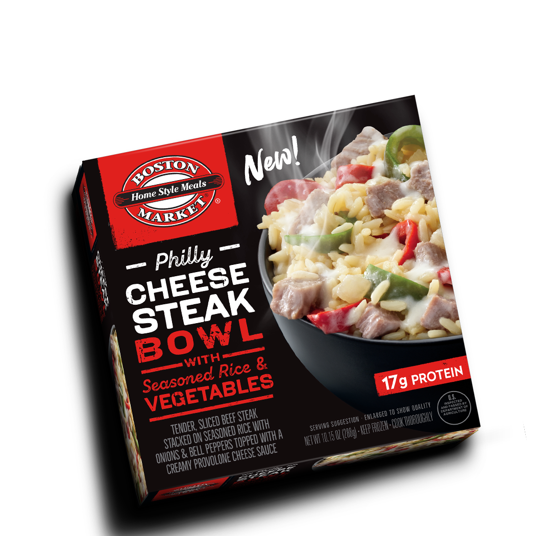 Philly Cheese Steak Bowl with Seasoned Rice & Vegetables Box